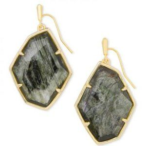 Kendra Scott Dunn Gold Drop Sage Mica Earrings